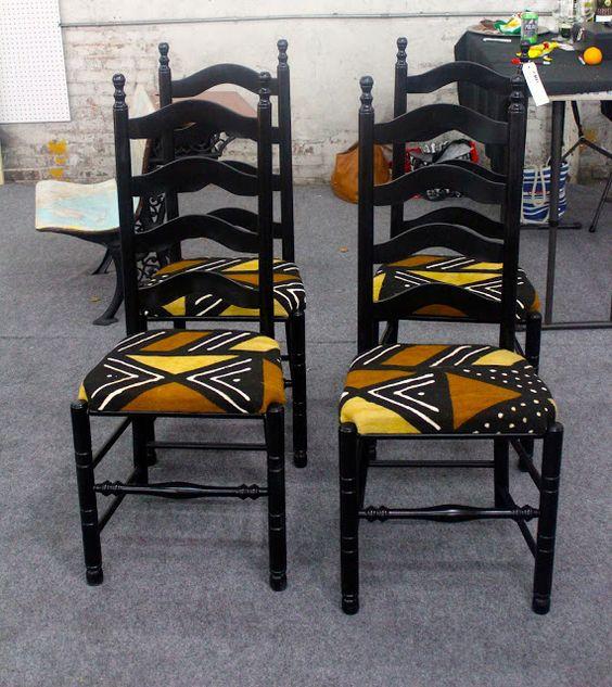 chaise-tissu-wax