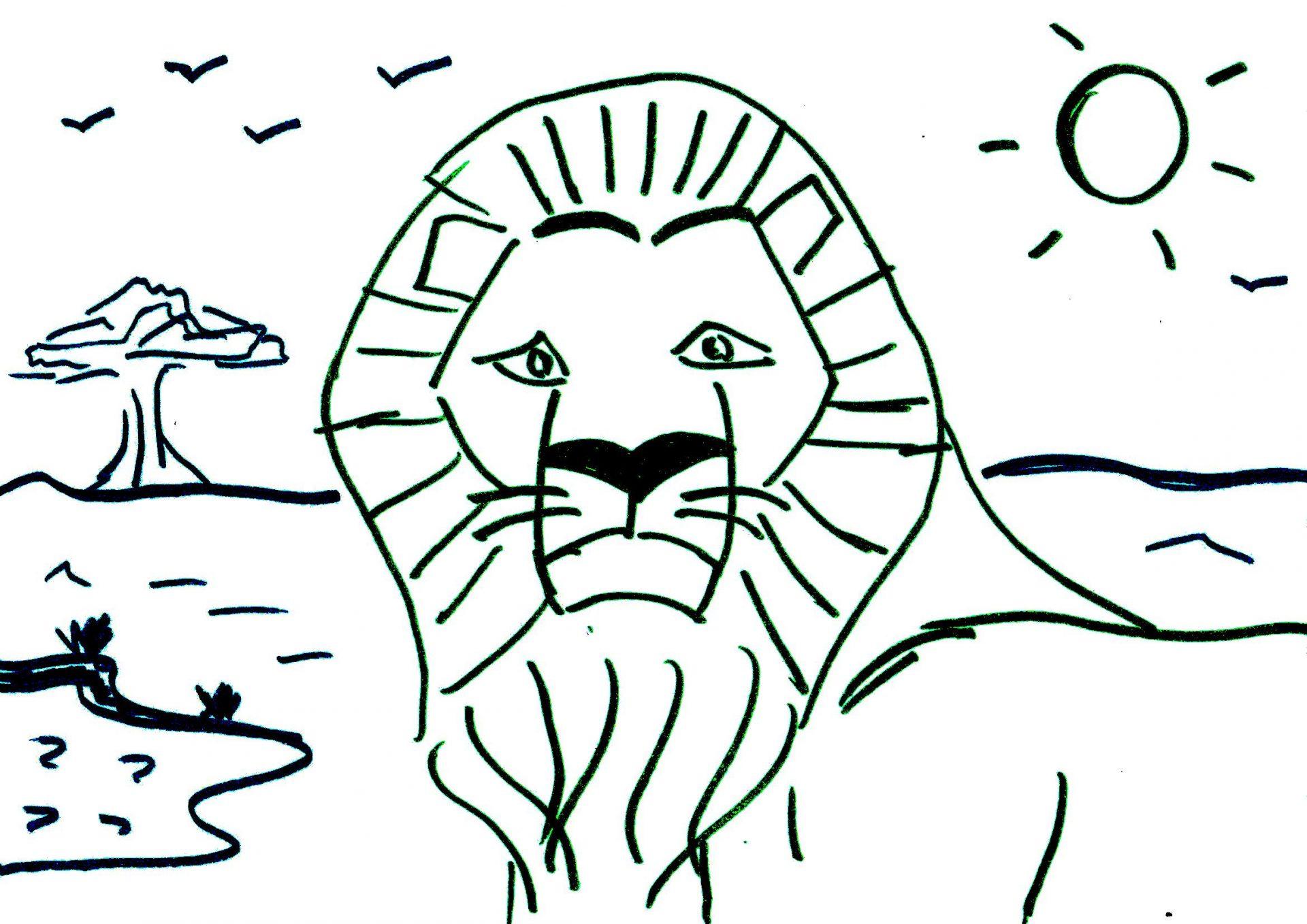 Coloriage Pour Maternelle Lion Dafrique Afrocaneo