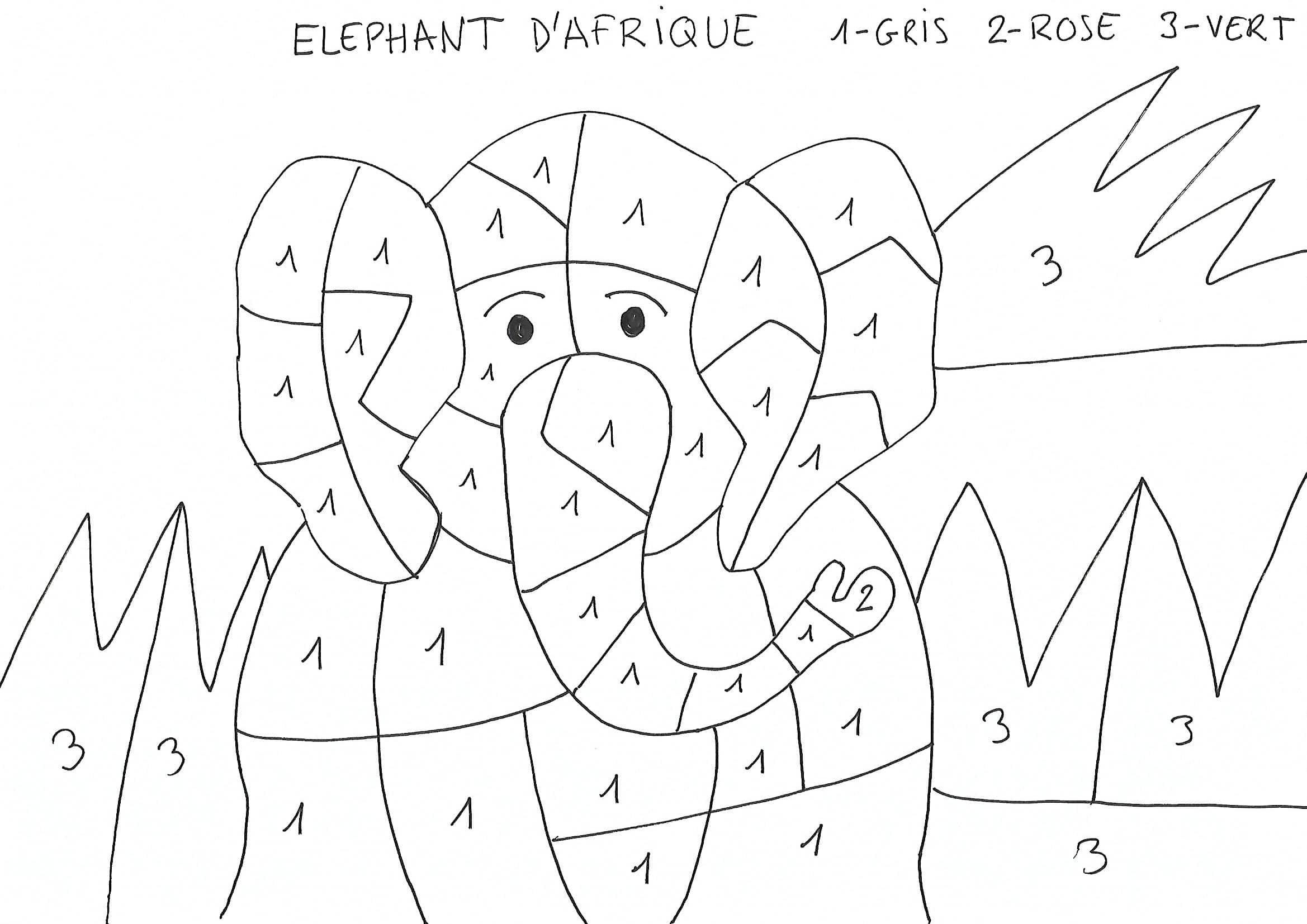 Coloriage Famille Elephant.Coloriage Maternelle Elephant Afrocaneo Carrefour Culturel