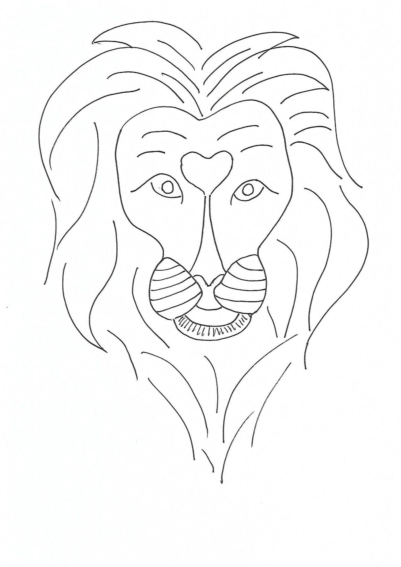 Coloriage lion maternelle - Afrocaneo - Carrefour culturel ...