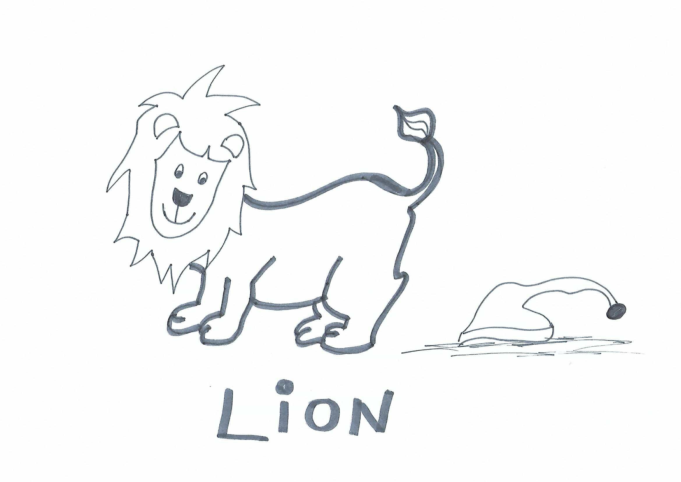 Dessin Lion Afrique à Imprimer Afrocaneo Carrefour