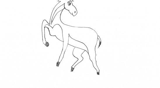 Coloriage antilope Afrique