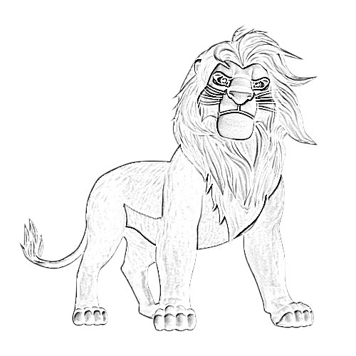 Coloriage Roi Lion King Mufasa Afrocaneo Carrefour