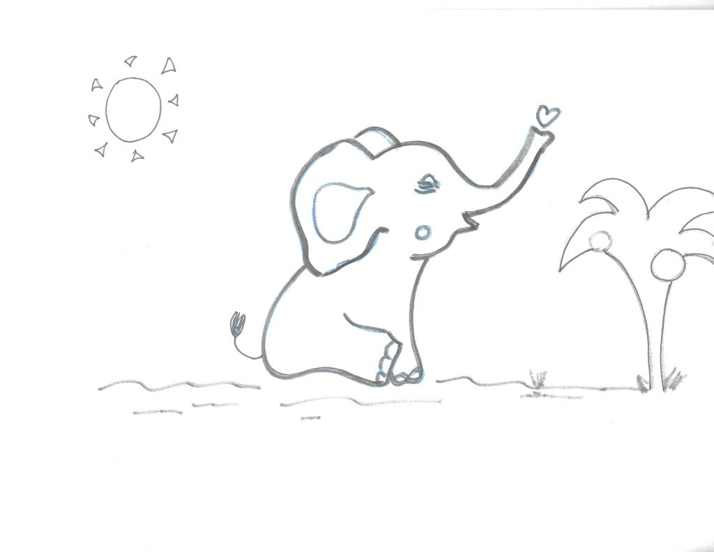 Coloriage Famille Elephant.Coloriage Elephant D Afrique Afrocaneo Carrefour Culturel