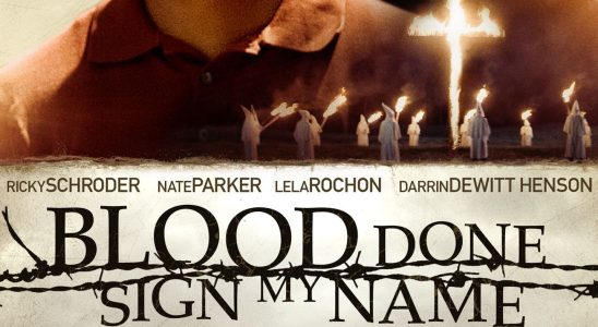 "Affiche du film ""Blood Done Sign My Name"""